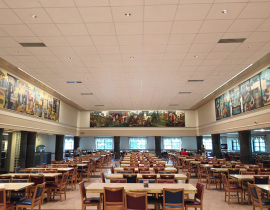 Wright Quad Dining Hall and Murals, IU Bloomington