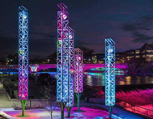 River Lights - South Bend, Indiana